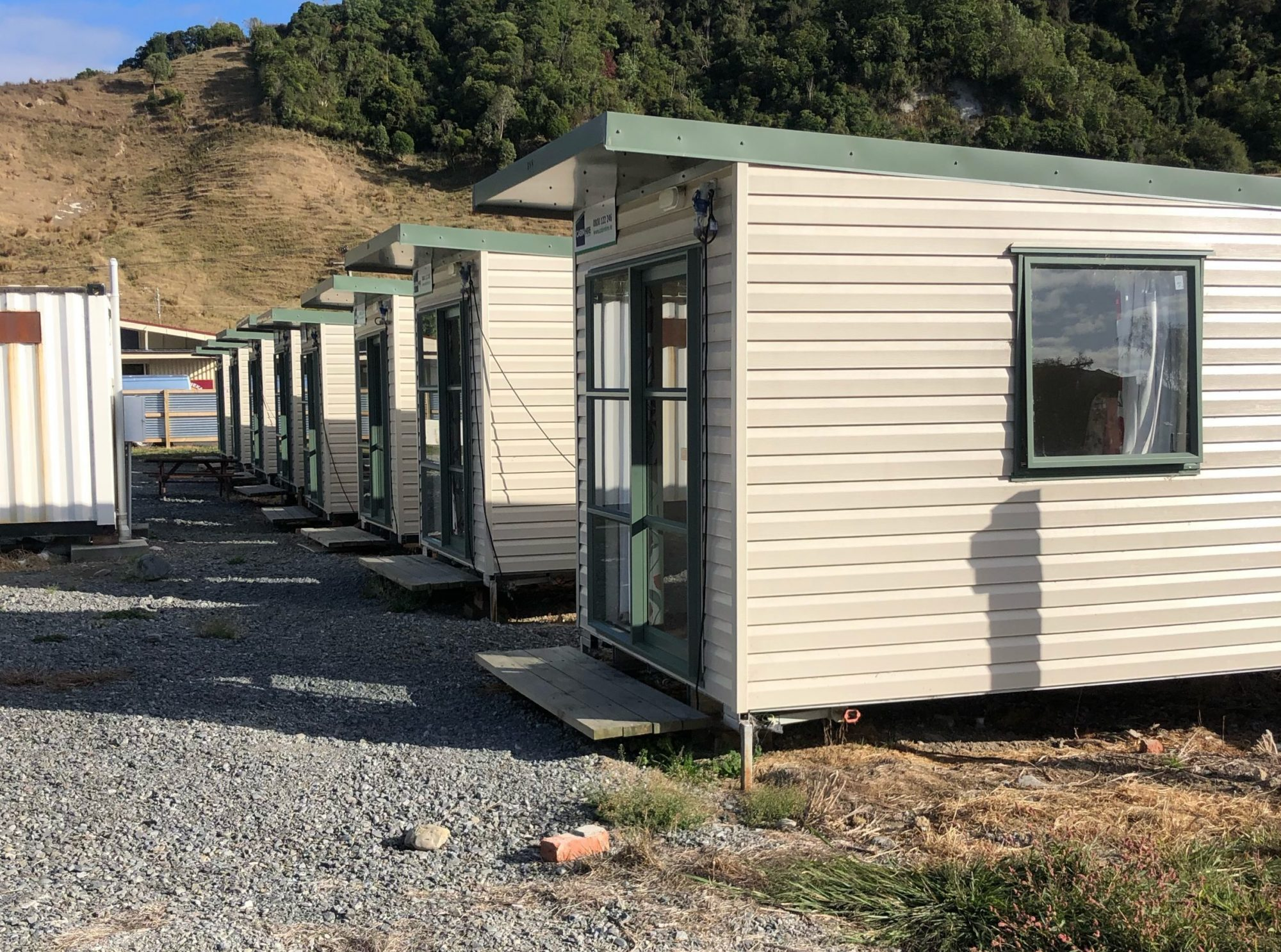 cabins in row